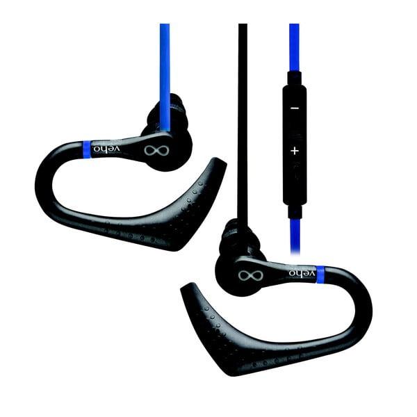 Czarne słuchawki douszne sportowe Veho ZS-2