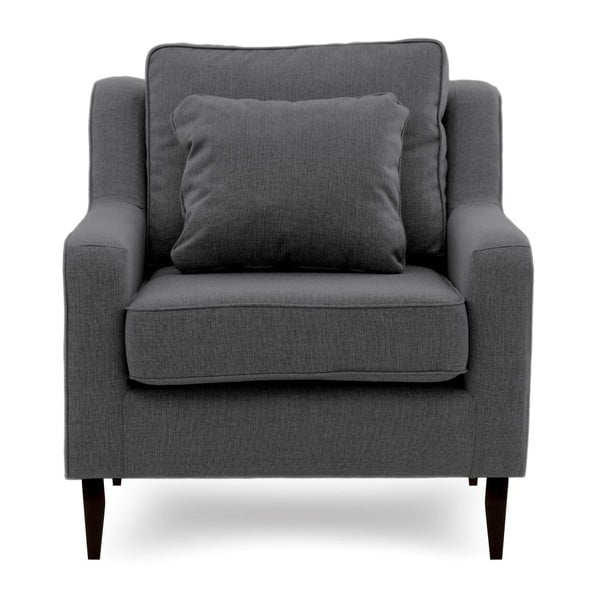 Ciemnoszary fotel Vivonita Bond