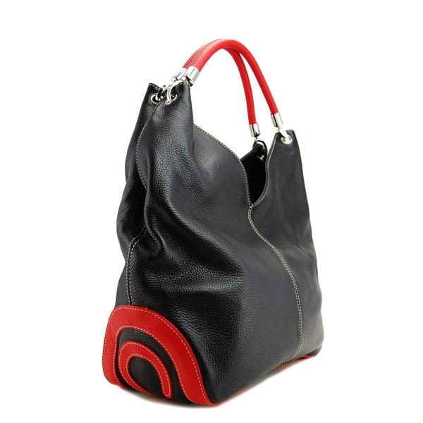 Skórzana torebka Diona Nero/Rosso