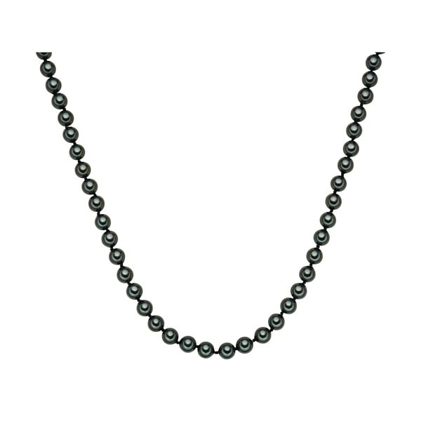 Perłowy naszyjnik Muschel, zielone perły 8 mm, długość 45 cm