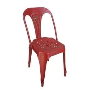 Metalowe krzesło Chaise Rouge