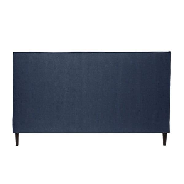 Granatowe łóżko z czarnymi nóżkami Vivonita Kent, 180x200 cm