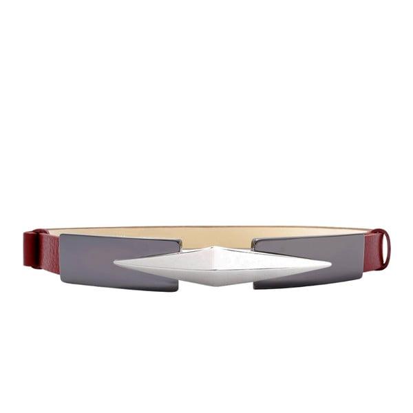 Regulowany pasek skórzany Royc czerwony, 66-100 cm