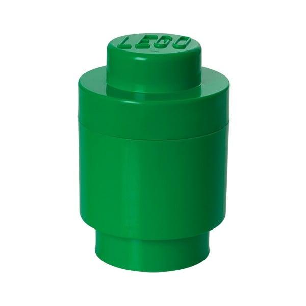 Zielony pojemnik okrągły LEGO®, ⌀ 12,5 cm