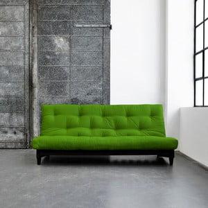Sofa rozkładana Karup Fresh Wenge/Lime