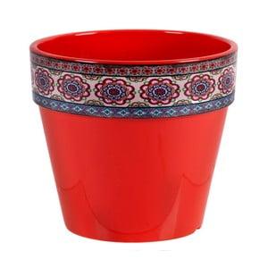 Czerwona doniczka Soho And Deco Estampado