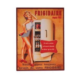 Blaszana tablica Frigidaire, 25x33 cm