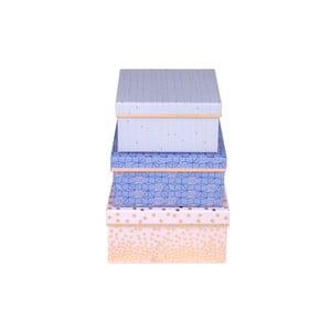 Zestaw 3 kwadratowych pudełek Tri-Coastal Design Sky And Glitters