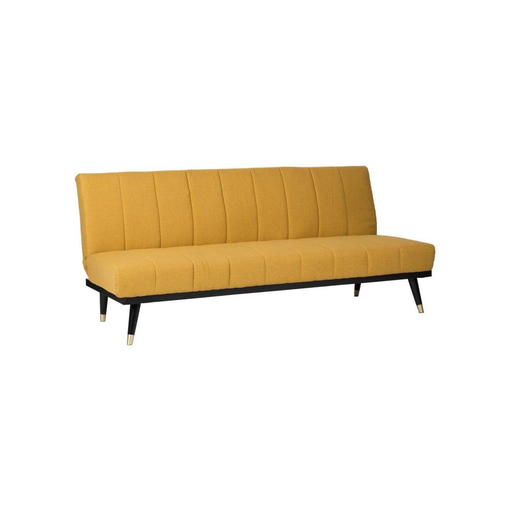 Musztardowa rozkładana sofa sømcasa Madrid
