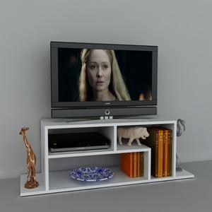 Stolik telewizyjny Fagus White, 29,5x120x41,8 cm