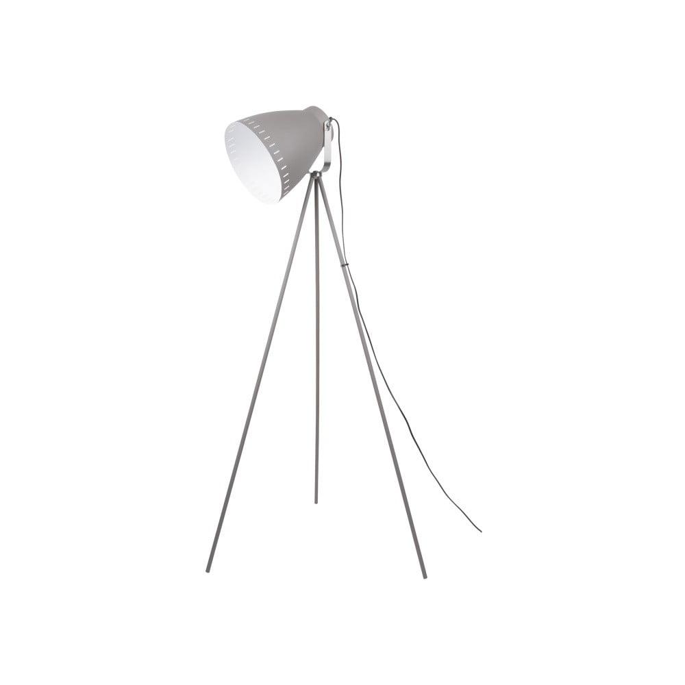 Szara lampa stojąca Leitmotiv Tristar