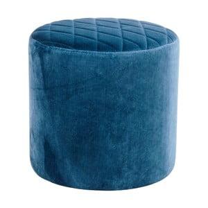 Modrý puf ze sametu House Nordic Ejby