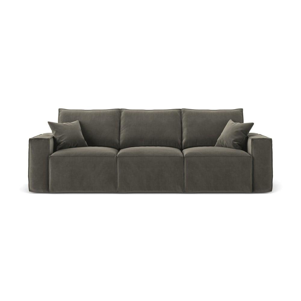 Ciemnoszara sofa 3-osobowa Cosmopolitan Design Florida