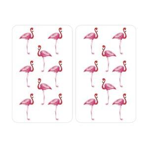 Zestaw 2 szklanych płyt ochronnych na kuchenkę Wenko Flamingo