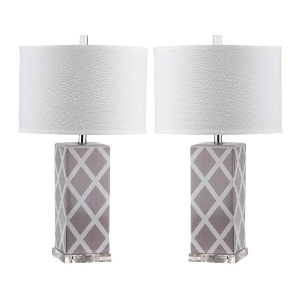 Zestaw 2 lamp stołowych Safavieh Beaumont