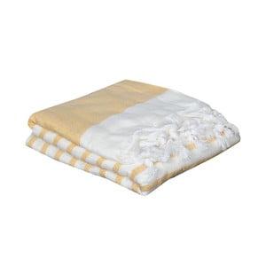 Ręcznik hammam Terry Yellow, 95x170 cm