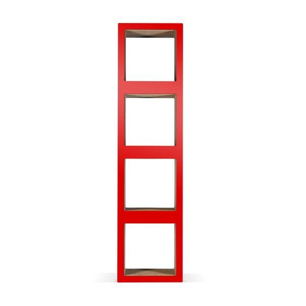 Kartonowa biblioteczka Bit Quattro Red