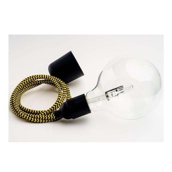 Kolorowy kabel Loft z żarówką, miód