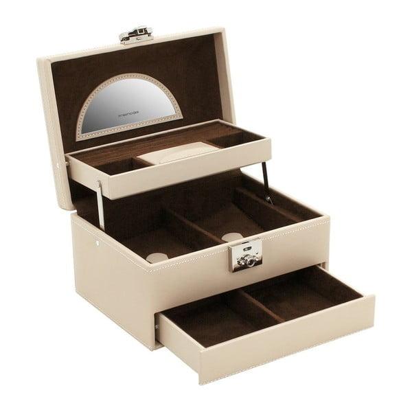 Beżowa szkatułka na biżuterię Friedrich Lederwaren Cordoba, 22x16 cm