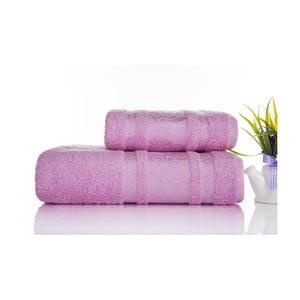 Zestaw 2 ręczników Carmen Pink, 50x90 i 90x150 cm