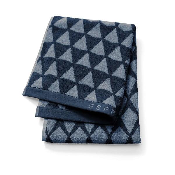Ciemnoniebieski ręcznik Esprit Mina, 70x140 cm