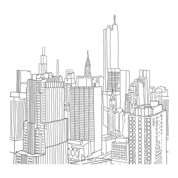 Poszwa na kołdrę My City, 140x200 cm