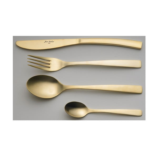 24-częściowy komplet sztućców Steel Gold