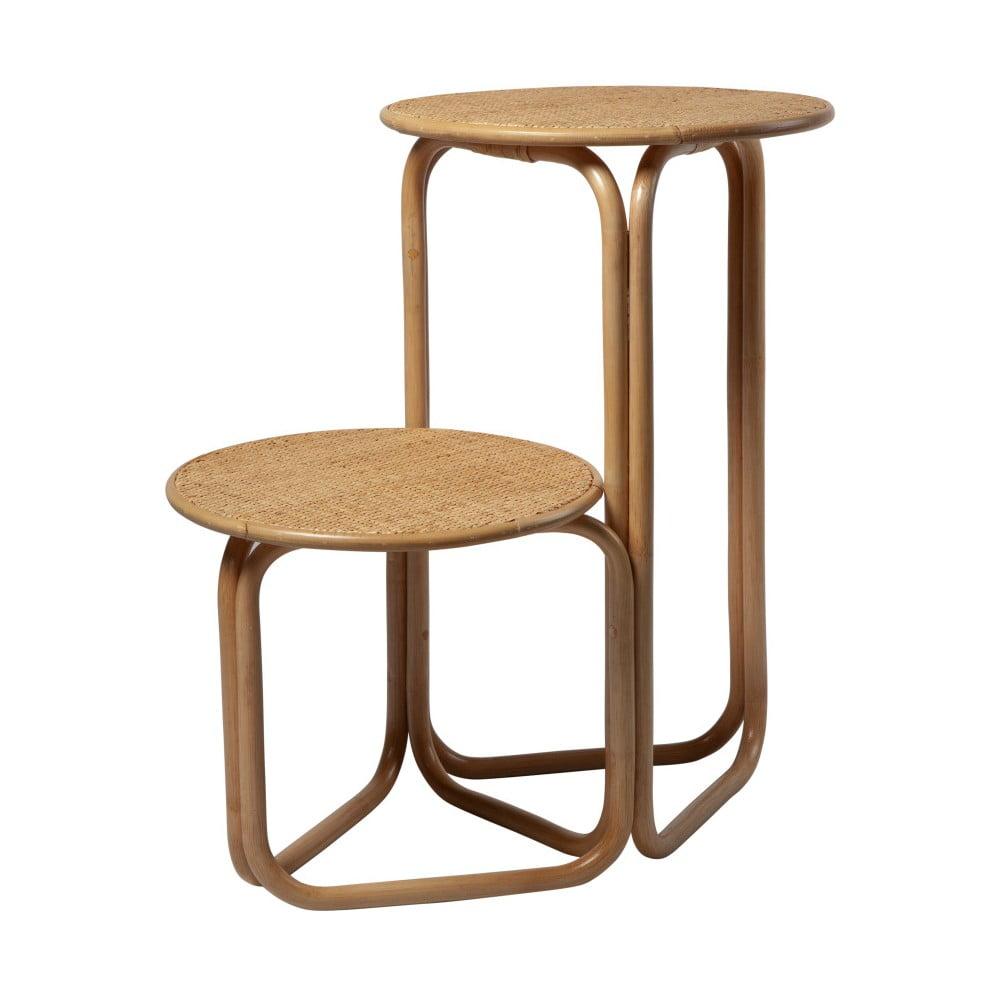 Rattanowy podwójny stolik RGE Champel