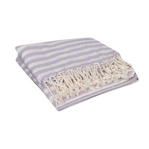 Jasnofioletowy ręcznik hammam Akasya Lilac, 90x190cm