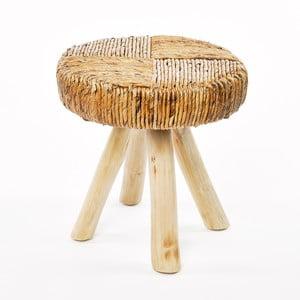 Brązowy stołek Simla Natural