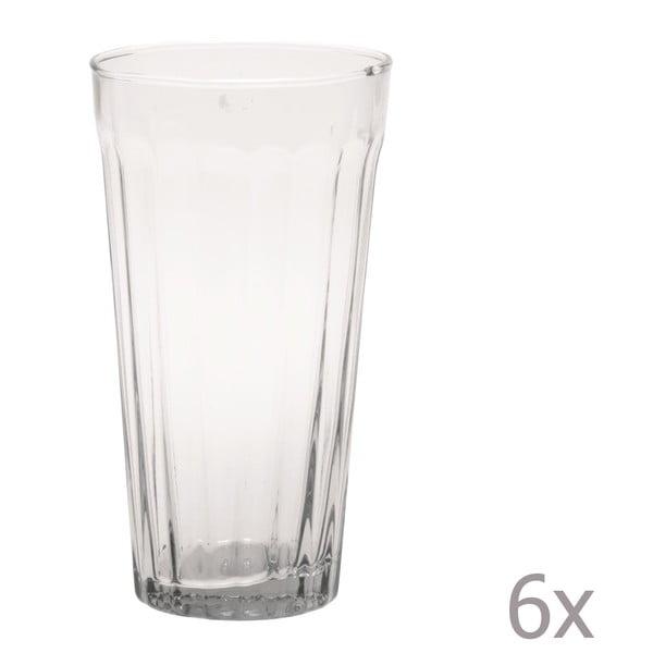 Zestaw 6 wysokich szklanek Lucca Transparent, 500 ml