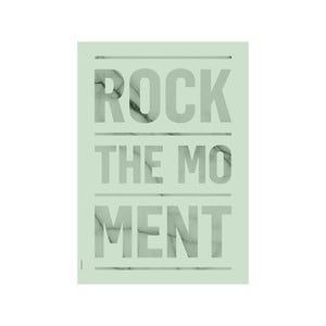 Plakat autorski Rock The Moment Green, A3
