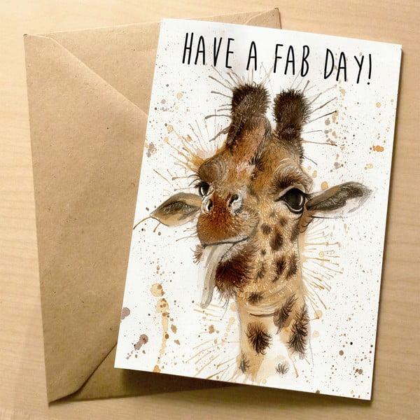 Kartka okolicznościowa Wraptious Splatter Giraffe Fab