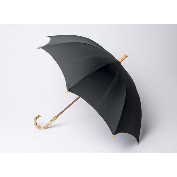 Bambusowy parasol Gents, czarny