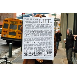 Plakat White Manifesto, 61x46 cm