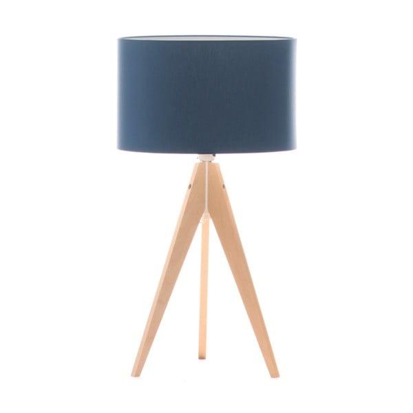Niebieska lampa stołowa 4room Artist, brzoza, Ø 33 cm