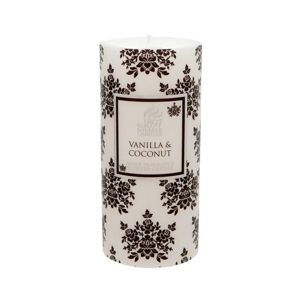 Świeczka zapachowa Pillar 100 godzin palenia, aromat wanilii i kokosu