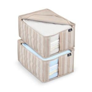 Zestaw 2 pudełek na ubrania Domopak Stripes