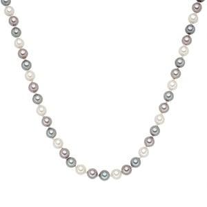 Perłowy naszyjnik Muschel, szarobiałe perły 8 mm, długość 42 cm