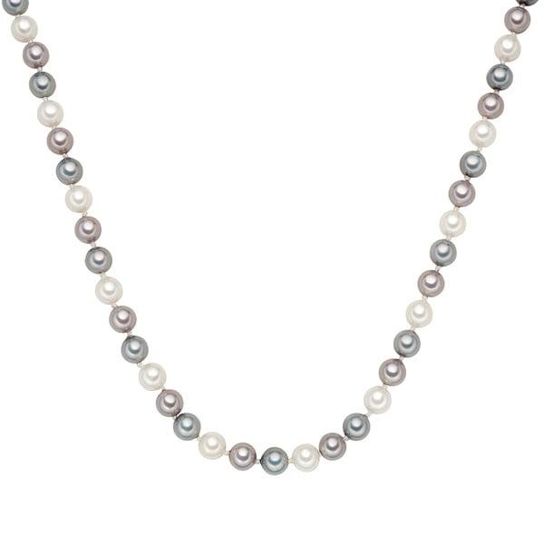Naszyjnik z szarobiałych pereł ⌀ 8 mm Perldesse Muschel, długość 42 cm