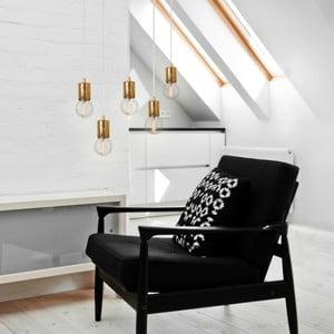 Lampa wisząca Cero, 5 rozłożystych kabli, złoty/biały/złoty