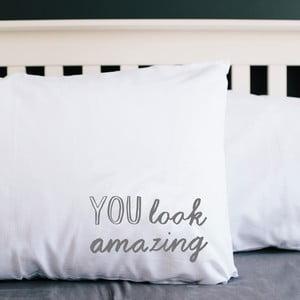 Poszewka na poduszkę You Look Amazing, 50x70 cm