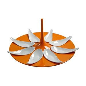 Zestaw do serwowania przekąsek Entity Orange/White