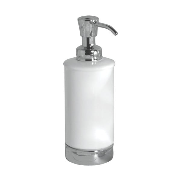Biały dozownik do mydła InterDesign York