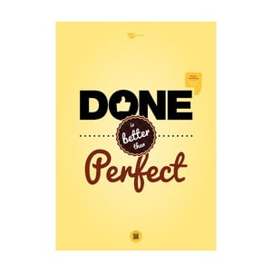 Plakat Done is better than perfect, 70x50 cm