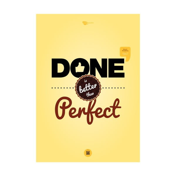 Plakat Done is better than perfect, 100x70 cm
