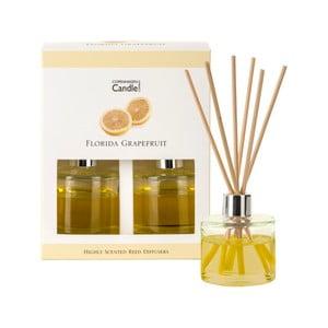Zestaw 2 dyfuzorów zapachowych o zapachu grejpfrutu Copenhagen Candles Florida, 40 ml