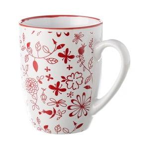 Czerwono-biały kubek Unimasa Meadow, 375 ml