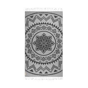 Czarny ręcznik hammam Begonville Arcane, 180x95cm