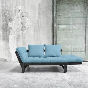 Sofa rozkładana Karup Beat Black/Celeste